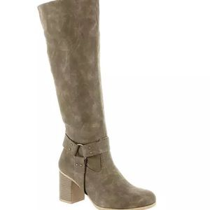 Dolce by Mojo Moxy Dora Knee-High Faux Brown Boots